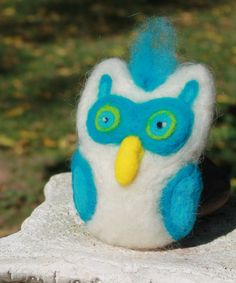 Needle Felted Owl Ornament Soft Sculpture by TheRovingArtist, $30.00
