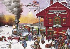 Buffalo Games Whistle Stop Christmas by Charles Wysocki J...
