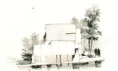 Architectural Drawings by Ricardo Agraz, via Behance