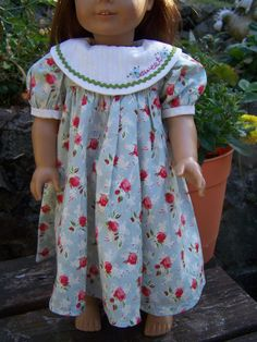 American Girl Doll Clothes  Blue Floral by KingsLittleBlessings, $9.50