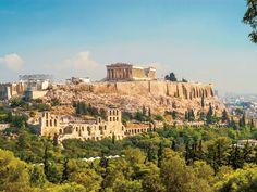 Acropolis of Athens. View at The Acropolis of Athens , Athens Acropolis, Parthenon, Athens Greece, Monuments, Greek Antiquity, To Go, Wanderlust, Archaeological Site, Travel Deals
