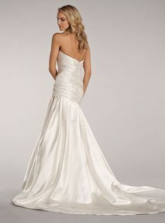 Style LL4400 - Bridal Gowns, Wedding Dresses - Lovelle Collection by Lazaro - Available Colours : Ivory (back)