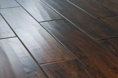 ***** BuildDirect – Engineered Hardwood - Acacia Collection – Acacia Handscraped Walnut - Angle View