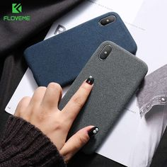 FLOVEME Cloth Texture Case for iPhone X 8 7 plus Soft Phone Cases for iPhone 8 iPhone 6 plus Back Cover Business Capa Conque - For iPhone 8 plus Bl Best Picture For clothes room For Your Taste You Iphone 7, Apple Iphone, Case Iphone 6s, Coque Iphone, Silicone Phone Case, Iphone Models, 6s Plus, Clothing Patterns, Cover