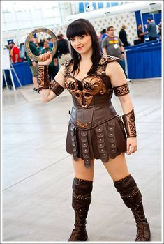 Xena Warrior Princess - Cosplayed by Bernadette Bentley Photo by John Jiao Photography taken at San Diego Comic Con 2014 Armor by Todd's Costumes: Movie Costumes, Props & Collectables