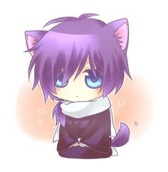 Saitou Hajime~Chibi Kitty Bishie cuteness overload <3