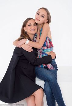 Cute: They both star in upcoming movie Planetarium and Lily-Rose Depp and her pregnant co-star Natalie Portman have posed for some stunning portrait shots together in Canada