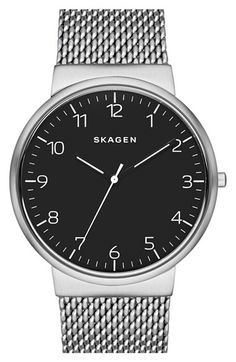 Skagen 'Ancher' Mesh Strap Watch, 40mm (Nordstrom Exclusive) available at #Nordstrom