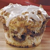 Simply Sinful Cinnamon Muffins.....luscious center of moist, rich cinnamon filling!.