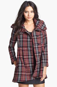 plaid babydoll coat