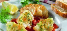 Fenchel-Tomaten-Gemüse mediterrane Art mit Seeteufel
