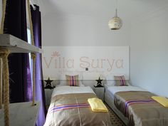 Villa Surya by Dfrost Almugar Surf House & Yoga Morocco  One of our twin rooms