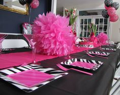 Zebra Print Party Supplies and Decorations