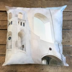 """Coit Tower"" / San Francisco by Taiga Colors Coit Tower San Francisco, Holidays In Finland, Cushions, Throw Pillows, Colors, Pattern, Design, Toss Pillows, Toss Pillows"