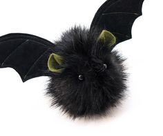 Fang the Green Eared Black Bat Plush Toy