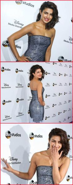 Priyanka Chopra looking at an event for Disney's show 'Quantico'.