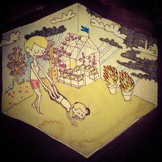 Illustration 2015. Ida Exner Painting & Drawing, Playing Cards, Paintings, Drawings, Illustration, Paint, Playing Card Games, Painting Art, Sketches