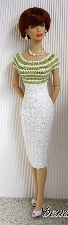 FAshion Doll in knitted Dress
