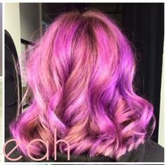 Pink hair with purple highlights @xoleah