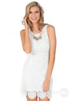 Southern Voice Dress in White | Monday Dress Boutique