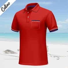 Custom Polo Shirts, Blue Chests, Red Polo Shirt, Red Shorts, Blue Stripes, Polo Ralph Lauren, Ribbon, Short Sleeves, Collections