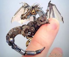 Artist upcycles broken watches into intricate steampunk sculptures