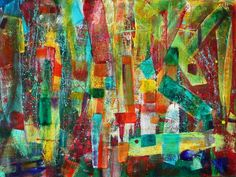 ARTFINDER: Invisible Cracks by Nestor Toro - Patchwork lines make up this work with a hint of randomness. Very vibrant painting to fill a room with lots of life! This piece has many layers and fine deta...