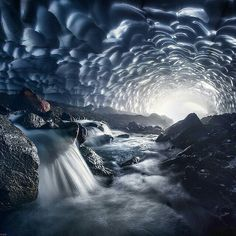 Ice cave in Russia