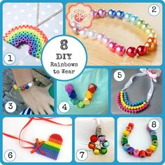 8 DIY Rainbows to Wear. Visit www.fizzypops.com for tutorials and supplies.