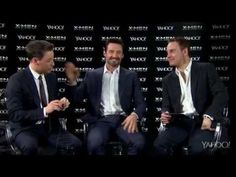 James McAvoy, Hugh Jackman, & Michael Fassbender | X-Men Days of Future Past Interview | no, seriously, this is worth watching... also, James McAvoy should ALWAYS speak in his natural accent...