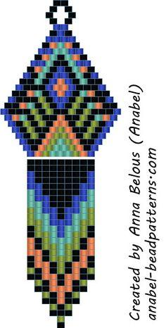 схемы бисер бисероплетение серьги мозаика кирпичное плетение