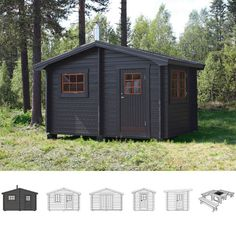 Black looks nice Garden Structures, Outdoor Structures, Outdoor Sauna, Finnish Sauna, Wood Store, Saunas, Cabin Fever, My Dream Home, Firewood