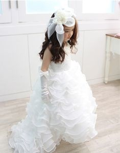 Cheap communion dresses, Buy Quality first communion dresses directly from China flower girl dresses Suppliers: Ball Gown First Communion Dresses Bow Floor Length Organza White Ivory Flower Girl Dresses For Weddings Pearls vestidos baratos Cute Flower Girl Dresses, Tulle Flower Girl, Cute Dresses, Puffy Dresses, Dresses 2016, Long Dresses, Girls Dresses Online, Girls Pageant Dresses, Dress Online