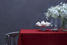 Tischdecken - Leinen Tischdecke m. Hohlsaum in Weinrot 300x140cm - ein Designerstück von kukshome bei DaWanda