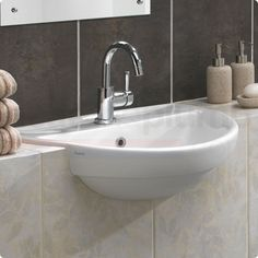 sink semi recessed tiled counter - Google Search