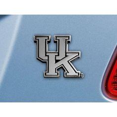 Kentucky Wildcats NCAA Chrome Car Emblem (2.3in x 3.7in)