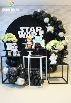 A Star Wars Birthday can be a pretty difficult thing to plan. Star Wars Party Decorations, Birthday Party Decorations, Birthday Parties, Decoration Party, Birthday Ideas, Happy Birthday B, Birthday Star, Minion Birthday, Star Wars Baby