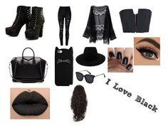 """""""Love Black"""" by marianaraposo on Polyvore featuring Balmain, WithChic, Givenchy and rag & bone"""
