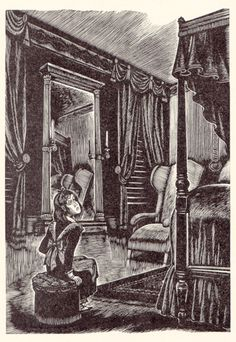Fritz Eichenberg, 1943: Jane in the red room.