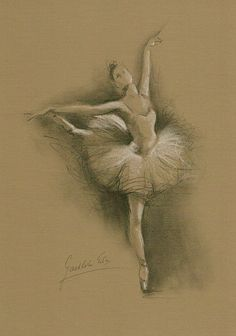 Limited Edition 8 x 12 print/drawing on BROWN PAPER of original pencil drawing by Ewa Gawlik (2/100).