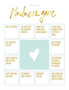 The Kindness Game Activity Vriendenbingo - gemakkelijk in het Nederlands te maken
