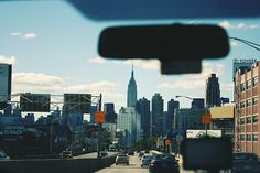 New York skyline from the car window..