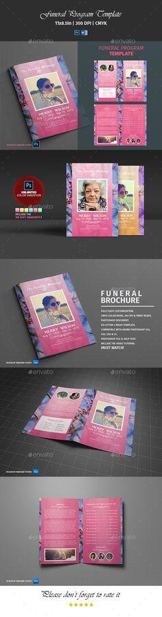 Funeral Program Template-V119 Program template
