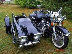 Beautiful H.D. and sidecar