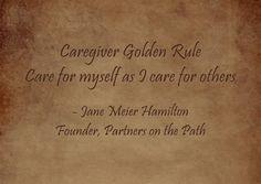 The Caregiver Golden Rule