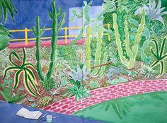 David Hockney Cactus Garden III, 2003 watercolor on paper sheets), 39 x. - David Hockney Cactus Garden III, 2003 watercolor on paper sheets), 39 x… The Effective Pic - David Hockney Artwork, David Hockney Landscapes, David Hockney Artist, Contemporary Artists, Modern Art, Pop Art Movement, Inspiration Art, Robert Rauschenberg, Desert Art