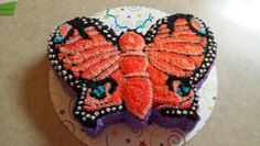 Peach Champagne Butterfly cake