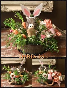 This item is unavailable Easter Gift, Easter Crafts, Easter Bunny, Easter Decor, Easter Ideas, Easter Centerpiece, Centerpieces, Centerpiece Ideas, Create A Critter