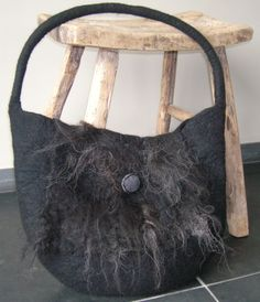 Black stonewool with Ouessant long wool
