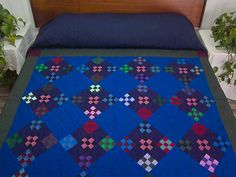 Double Nine Patch Quilt -- marvelous skillfully made Amish Quilts from Lancaster (hs5051)